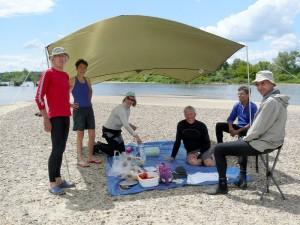 30 mai 12h57-Le Bec d'Allier-banc de sable-pause midi