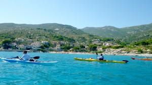 trio de kayaks