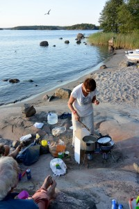 repas sur la plage