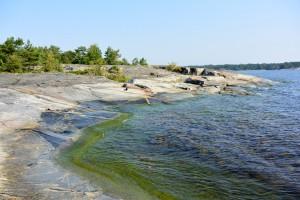 plage de granit