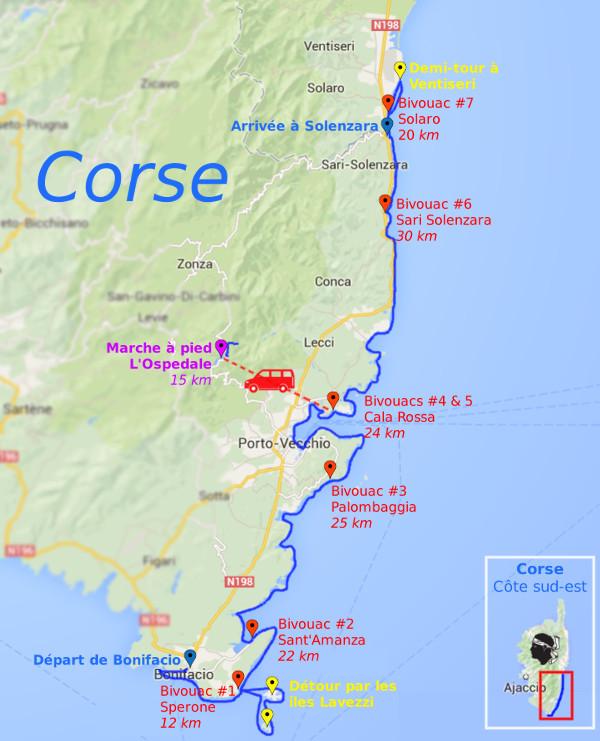 Carte Corse Solenzara.Raid Kayak De Mer En Corse 17 Au 26 Octobre 2014