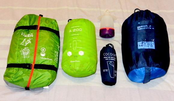 Équipement de camping individuel