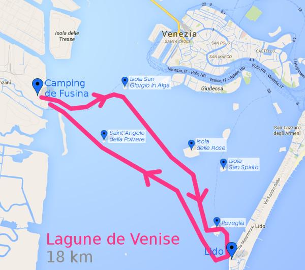 Itinéraire dans la lagune de Venise