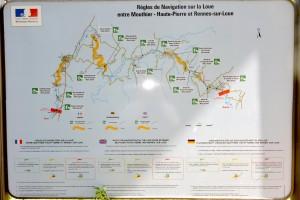 Règles de navigation sur la Loue