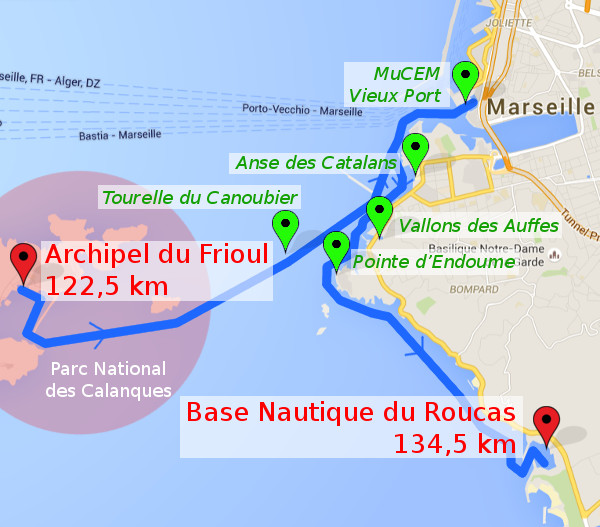 itinéraire J5 : Frioul - Marseille