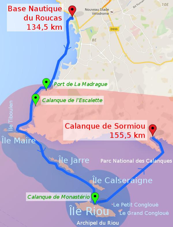 itinéraire J6: Marseille - Sormiou