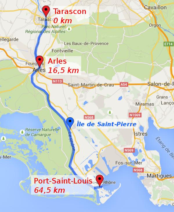 itinéraire J1 et J2 : Tarascon - Arles - Port Saint Louis
