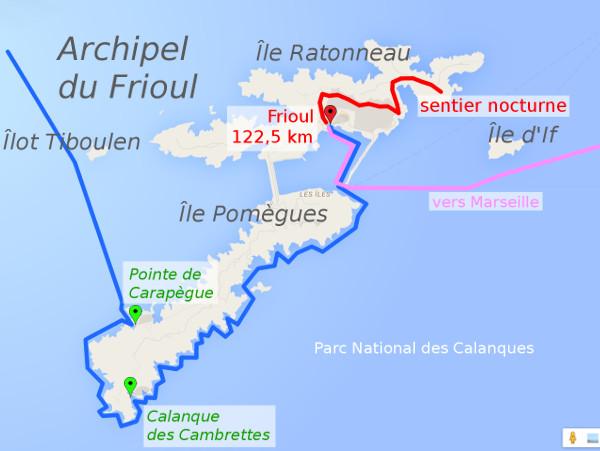 itinéraire J4 : Archipel du Frioul