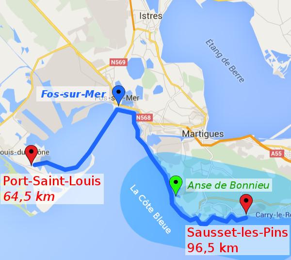 itinéraire J3 : Port Saint Louis - Sausset Les Pins