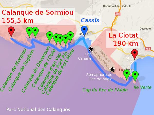 itinéraire J7 : Sormiou - Cassis - La Ciotat