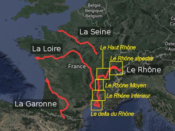 Carte du Rhône