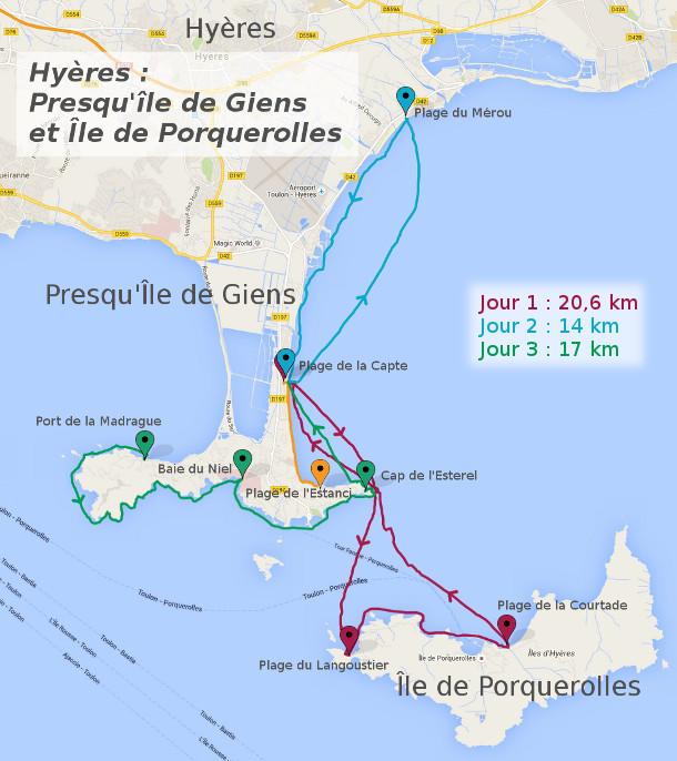 Itinéraire - Hyères