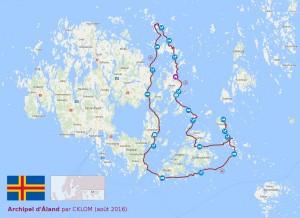 Itinéraire dans l'archipel d'Åland 2016