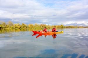 Descente de la Saône en automne
