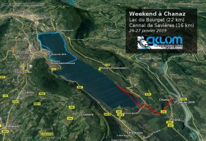 Itinéraire du le Lac du Bourget (janvier 2019)