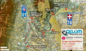 Gorges du Haut Rhône, itinéraire du 24 mars 2019