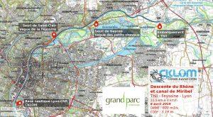 Itinéraire Canal de Miribel le 6 avril 2019