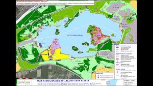 Plan du Lac des Eaux Bleues