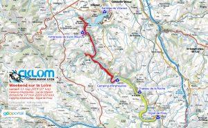 Itinéraire sur la Loire - Lac de Villerest - 11 et 12 mai 2019