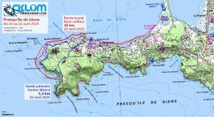 Itinéraire randonnée Presqu'Île de Giens 20-22 avril 2019