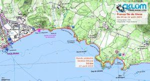 Itinéraire randonnée Presqu'Île de Giens 21 avril 2019