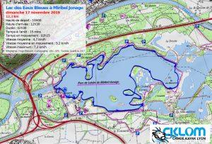 Itinéraire Lac des Eaux Bleues Miribel 17 nov 2019-IGN