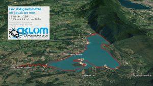 Lac d'Aiguebelette - itinéraire