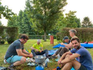Manchons de canards au camping Trévoux